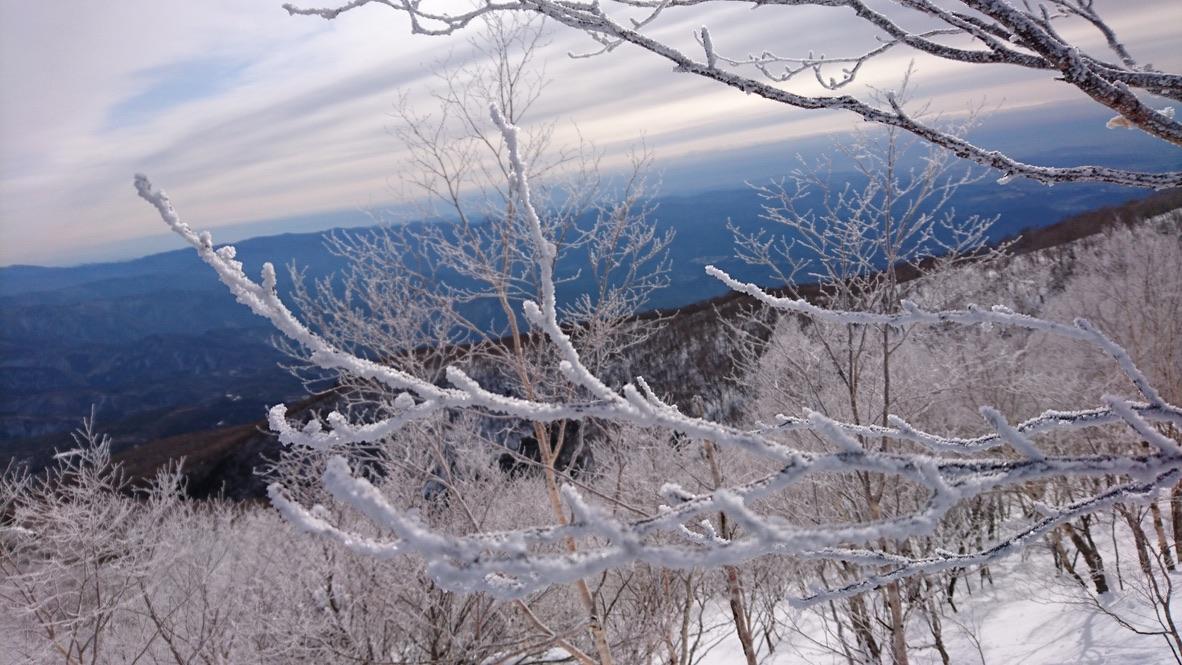 黒檜山・草木も凍る寒さです(2回目)