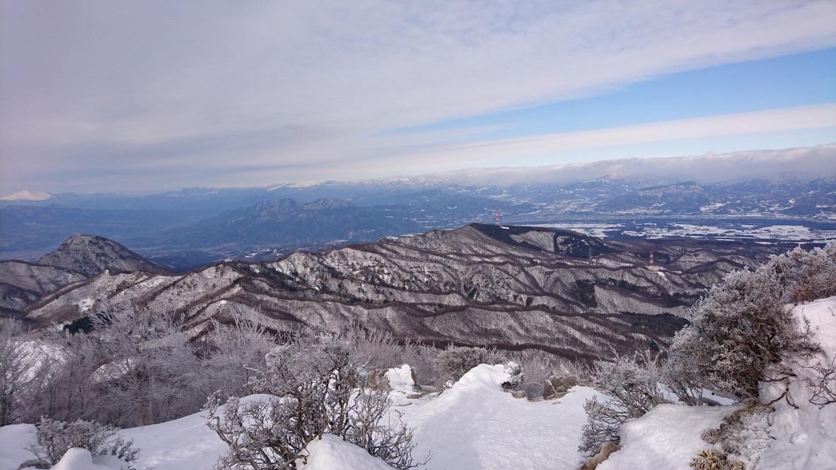 黒檜山の絶景スポットからの景色