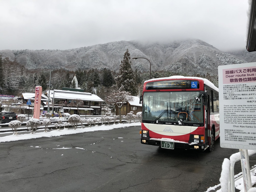 木曽駒ケ岳・しらび平行きのバス