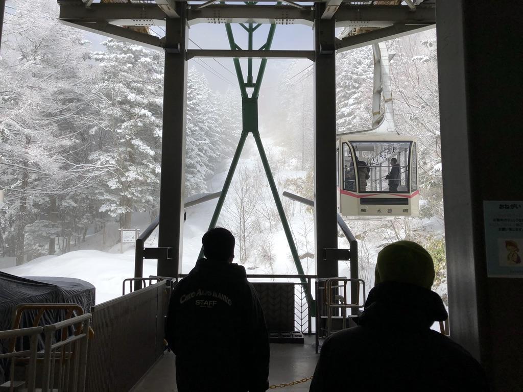 木曽駒ケ岳・しらび平にロープウェイ到着