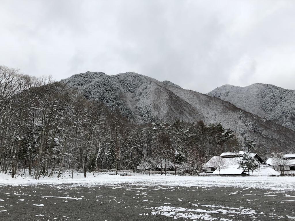 木曽駒ケ岳・菅の台バスセンター・朝の写真