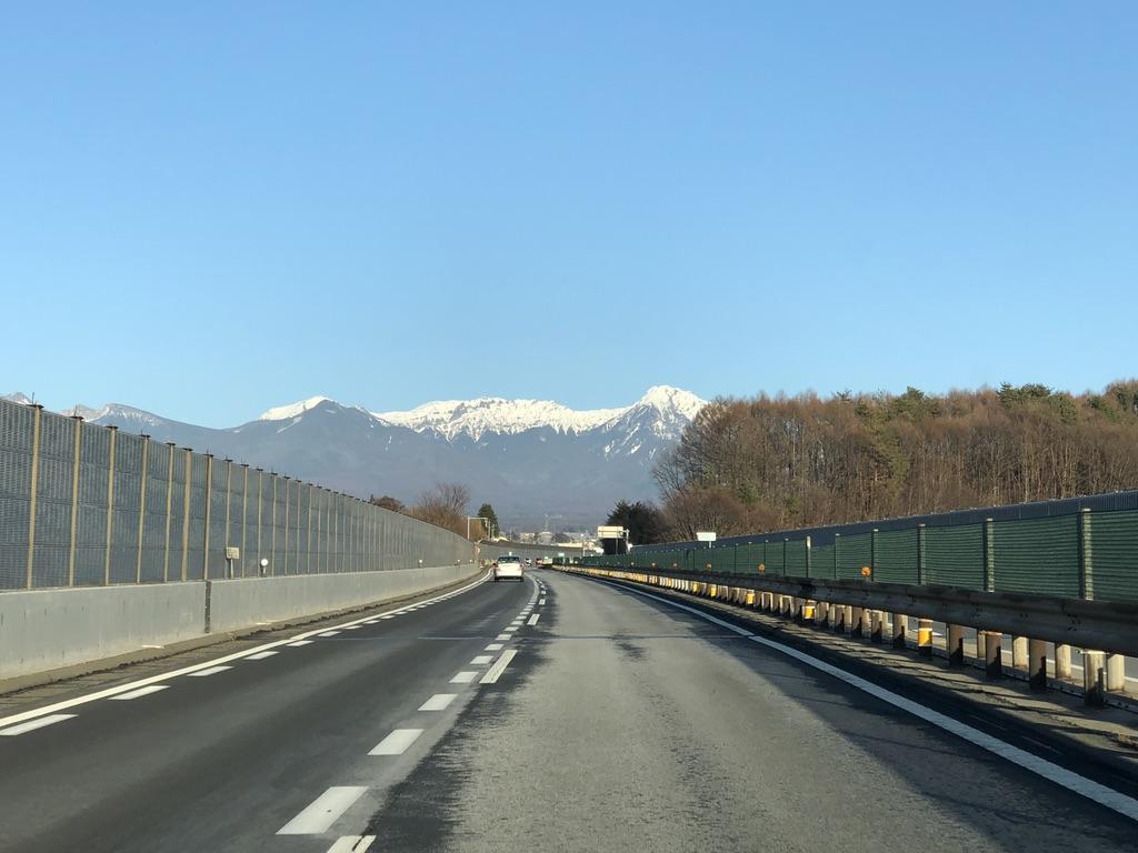 中央自動車道から見えた八ヶ岳