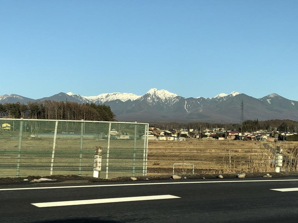 中央自動車道から見えた八ヶ岳2