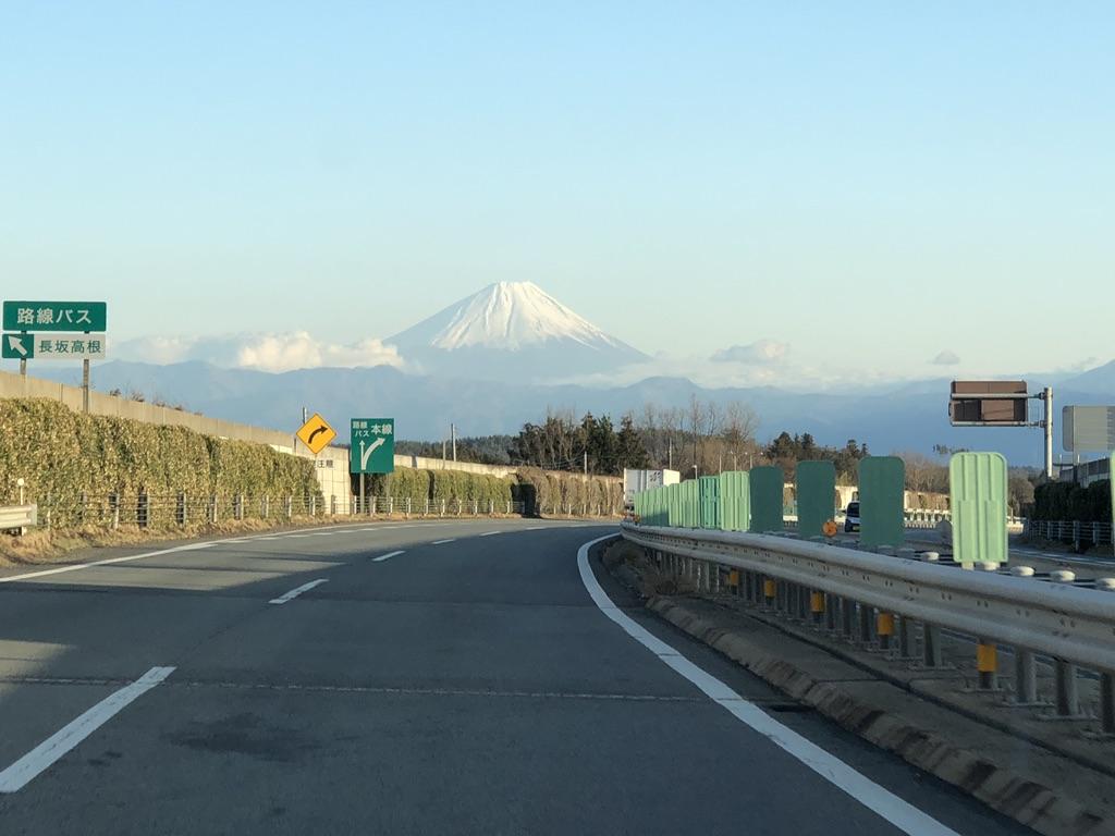 中央自動車道から富士山