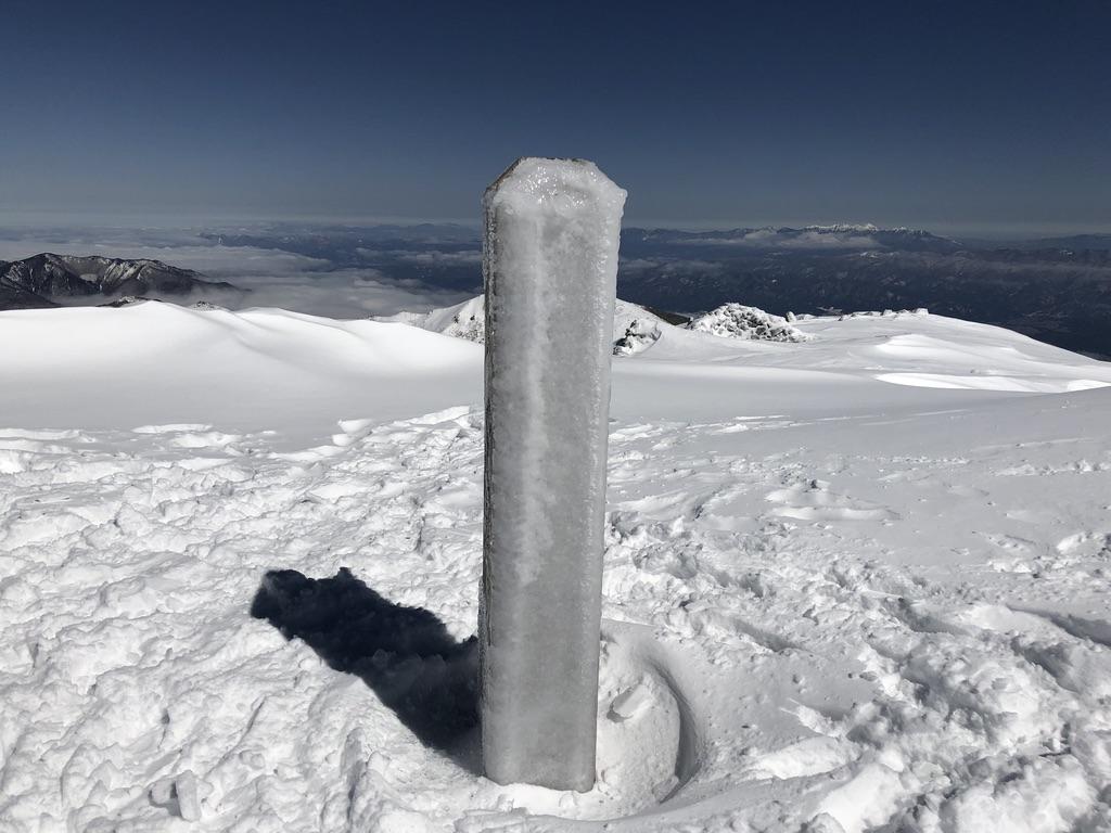 木曽駒ケ岳・木曽駒ヶ岳の山頂標識