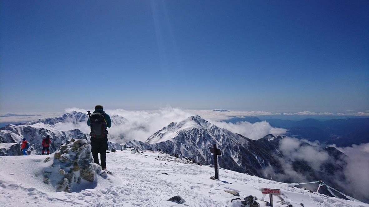 木曽駒ケ岳・山頂からの宝剣岳
