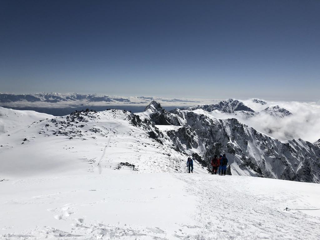 木曽駒ケ岳・山頂からの下山