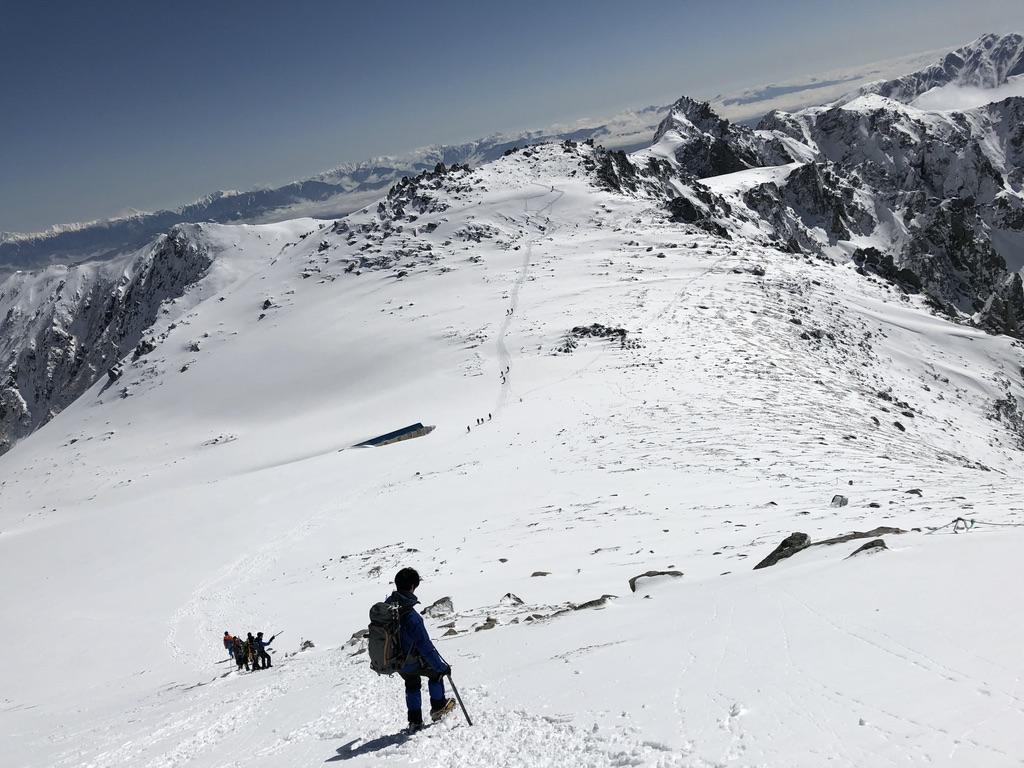 木曽駒ケ岳・山頂から駒ヶ岳頂上山荘へ