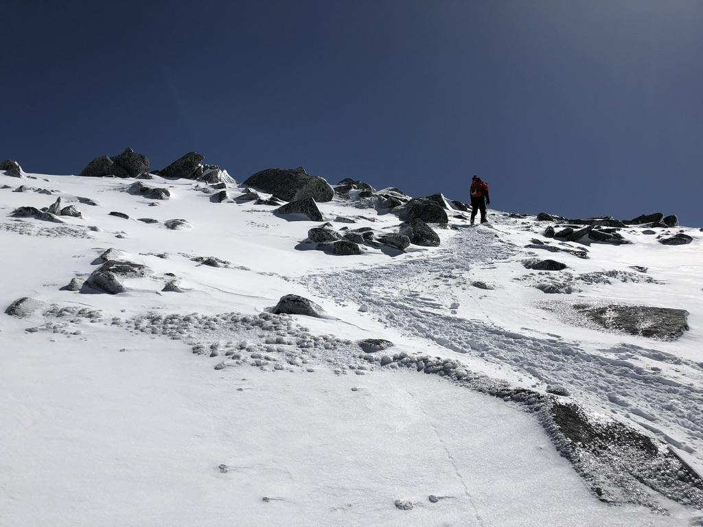 木曽駒ケ岳・中岳登り、あとちょっと