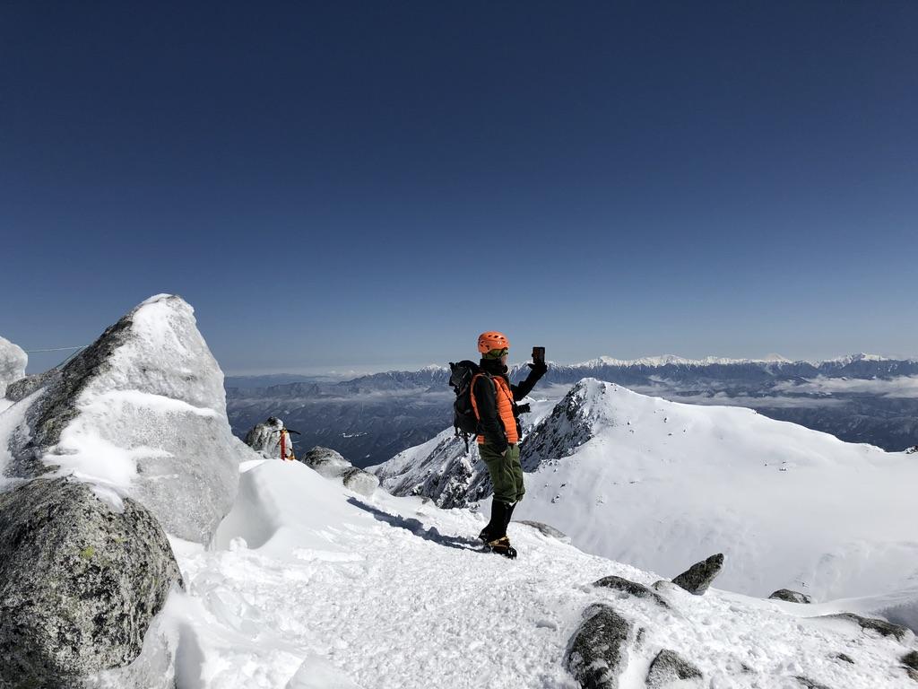 木曽駒ケ岳・再びの中岳山頂到着です