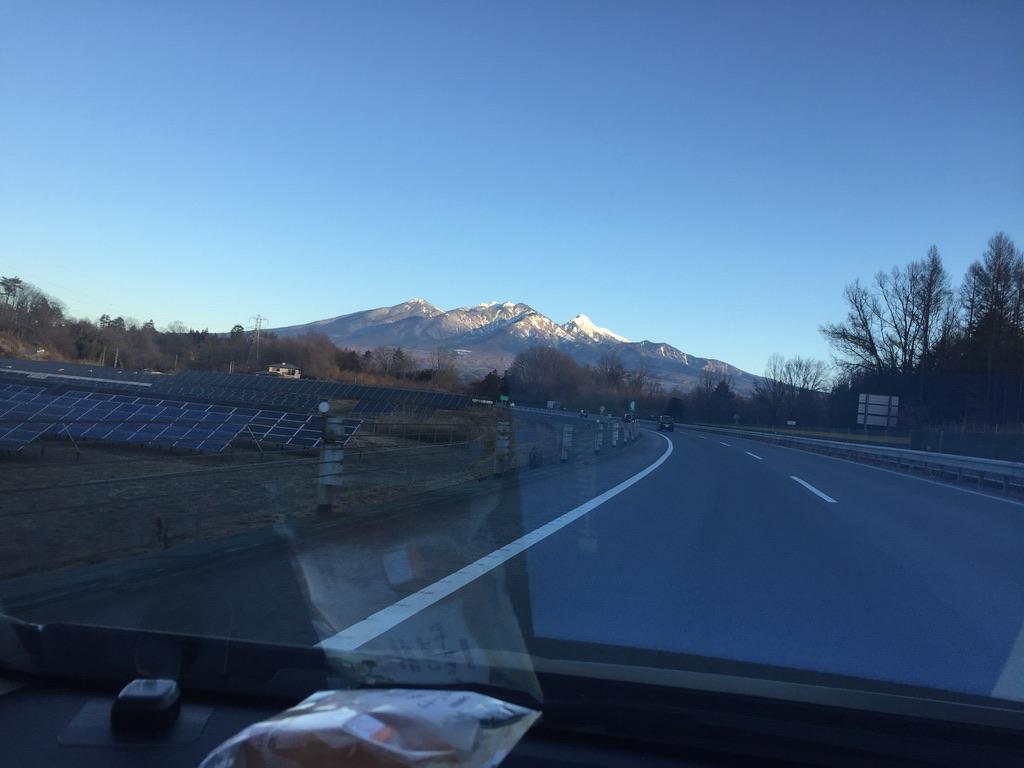 中央高速からの八ヶ岳