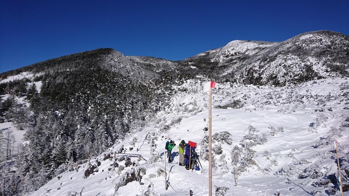 雪山初挑戦の北横岳