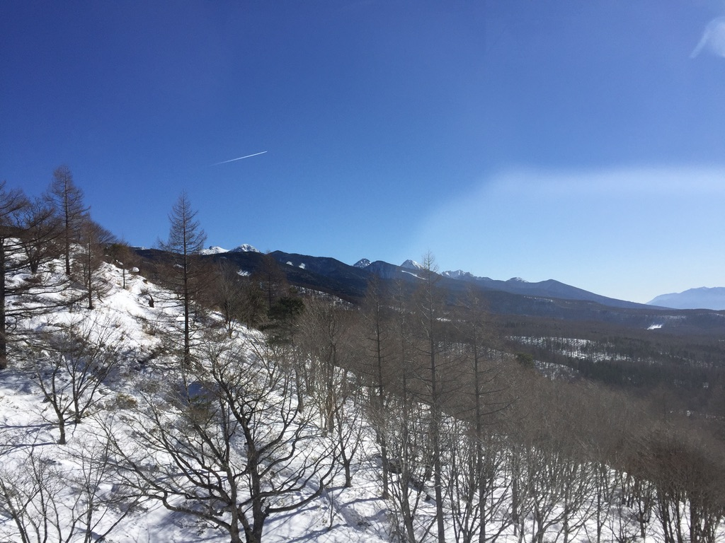 北八ヶ岳ロープウェイから見る南八ヶ岳