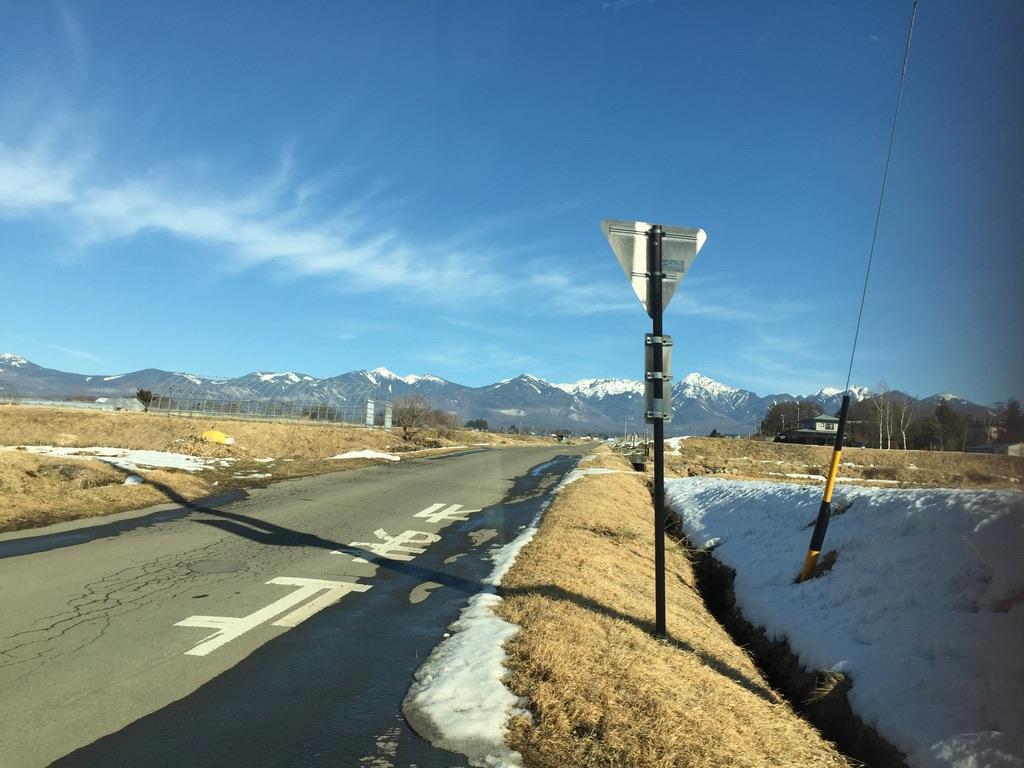 町から見える八ヶ岳
