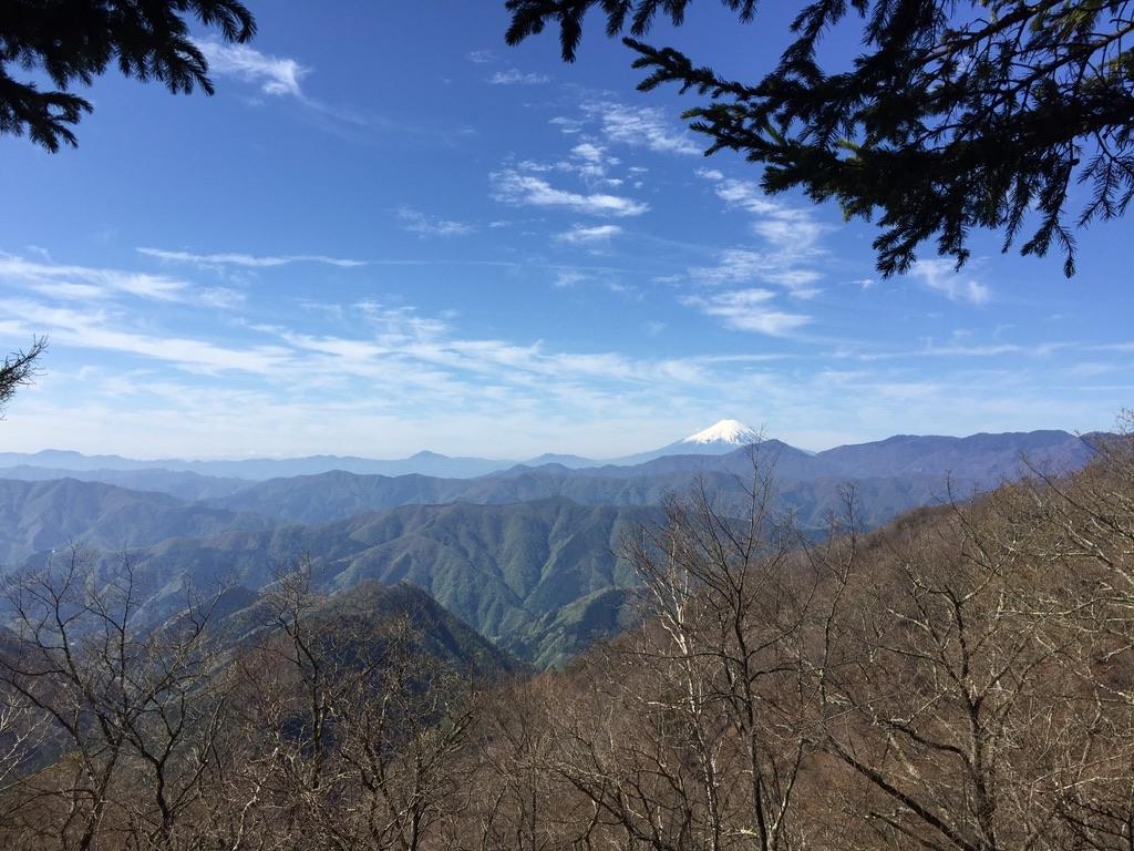 雲取山・七ツ石小屋からの富士山