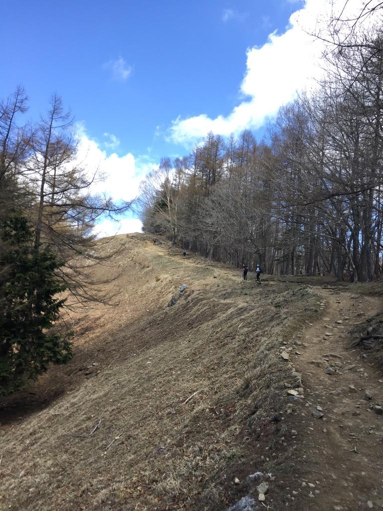 雲取山・七ツ石山から雲取山へ通じる稜線