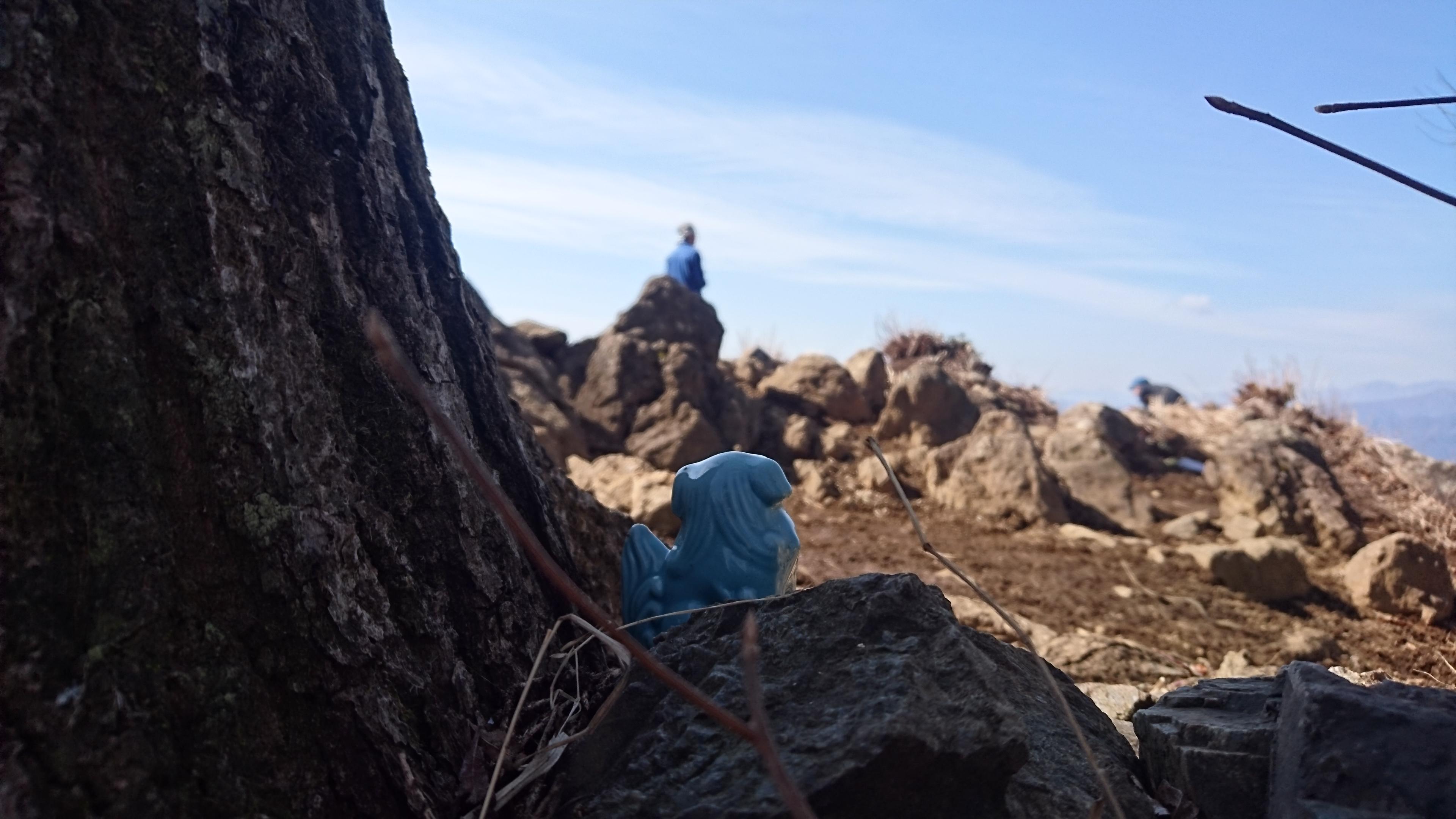 大岳山山頂の狛犬