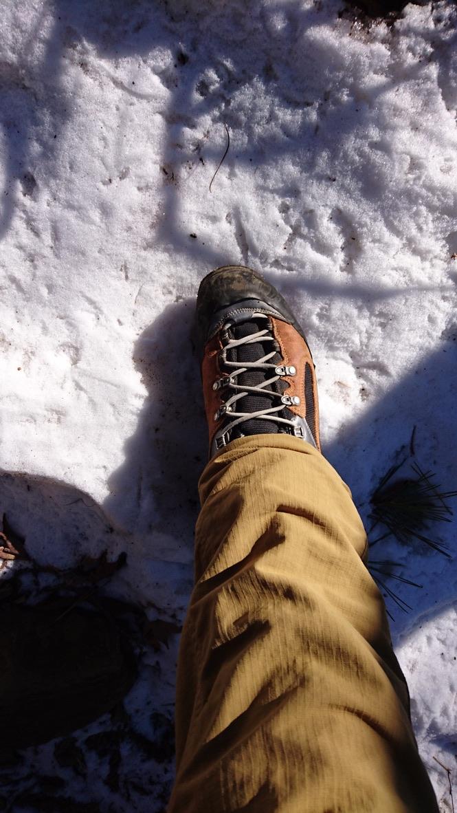 丹沢・鍋割山・雪がちょっとありますね