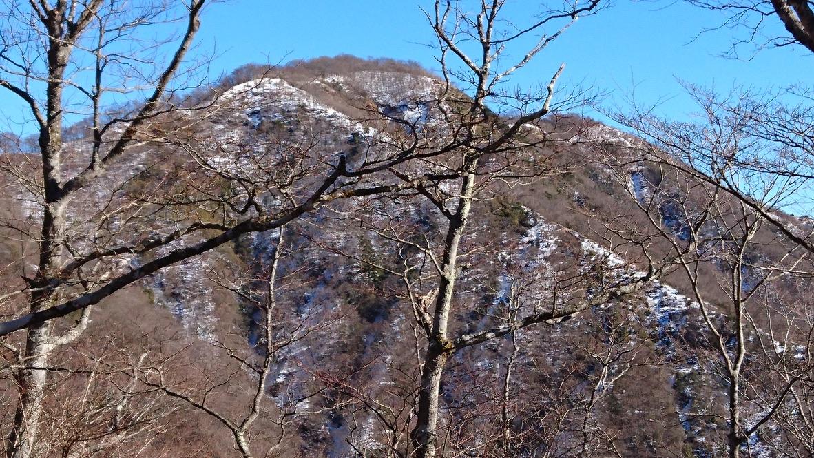 丹沢・鍋割山・塔ノ岳の方面の景色