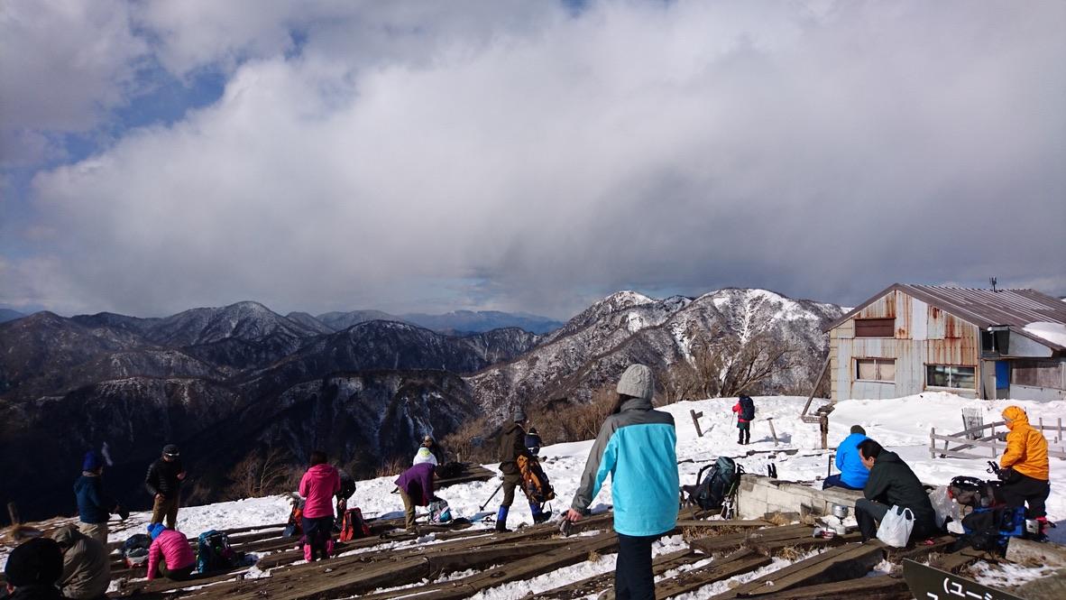 丹沢・塔ノ岳山頂からの蛭ヶ岳