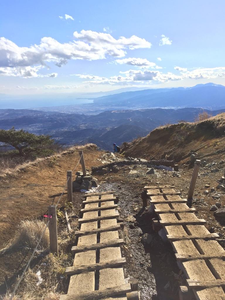 丹沢・塔ノ岳・大倉尾根から下山です