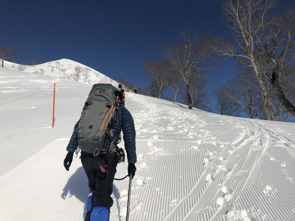 谷川岳・ゲレンデ横を登ります