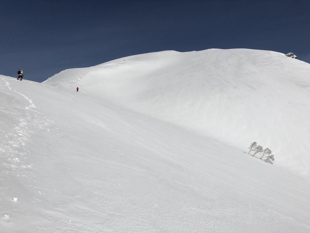 谷川岳・天神尾根・ひたすら白い斜面を登ります