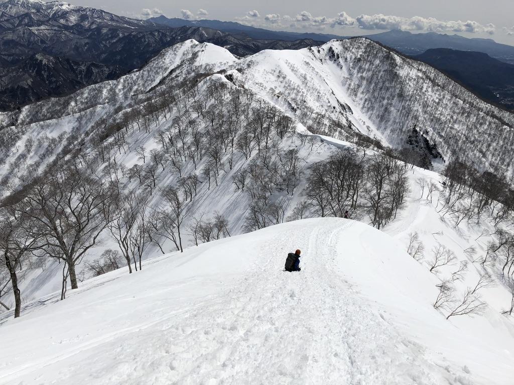 谷川岳・天神尾根でシリセード