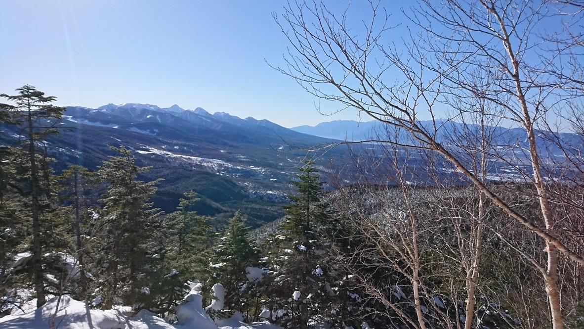 蓼科山からの南八ヶ岳と南アルプス