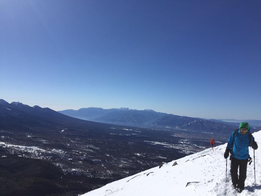 蓼科山から南アルプス