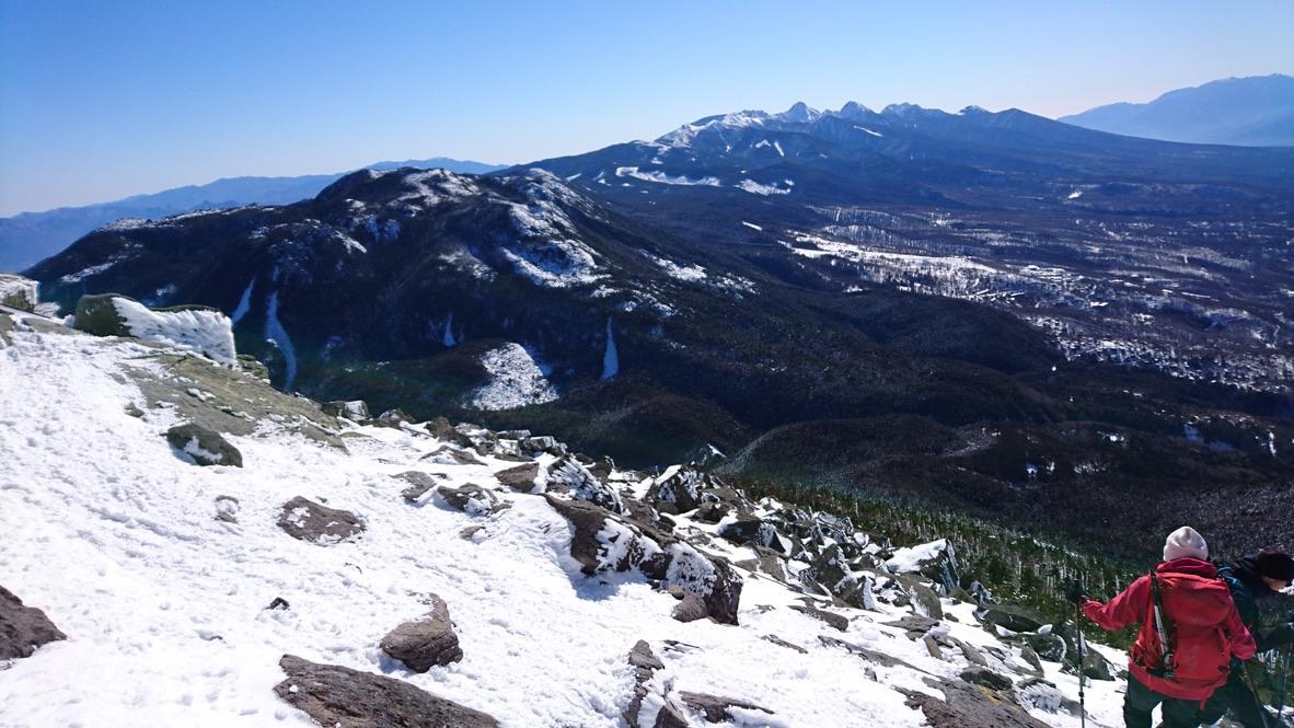 蓼科山・下山・八ヶ岳が見えました
