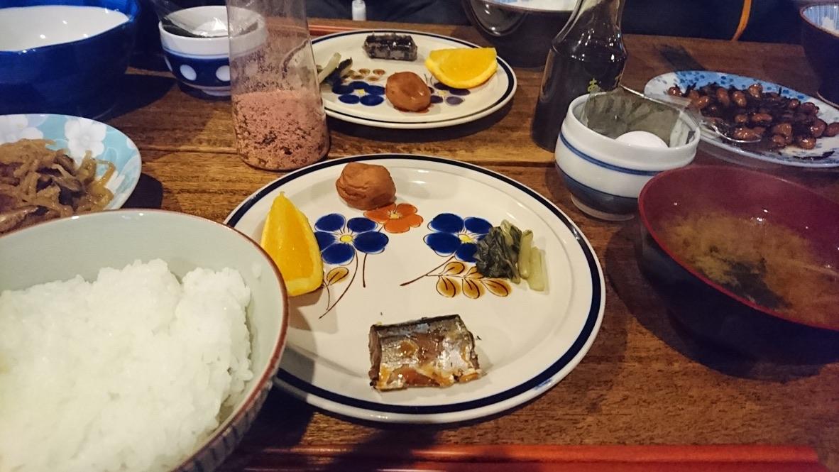 天狗岳・黒百合ヒュッテの朝ご飯