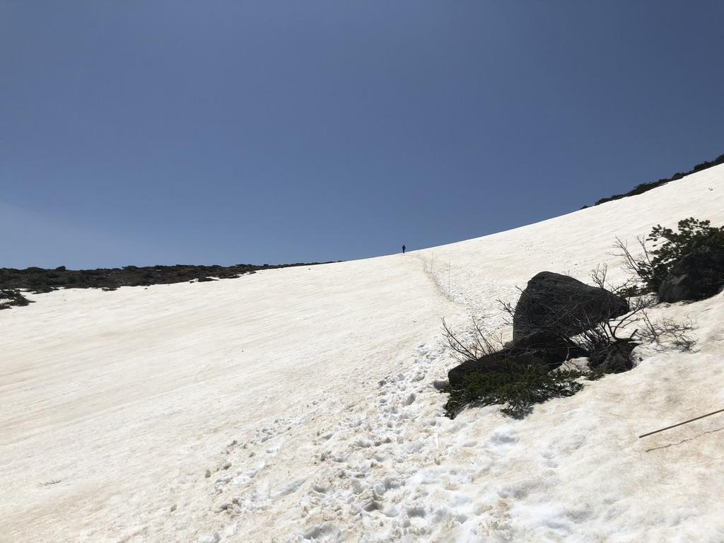 安達太良山・矢筈森の雪道