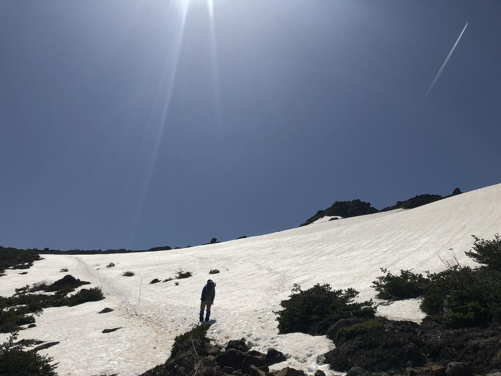 安達太良山・峰が辻から安達太良山への直登ルート