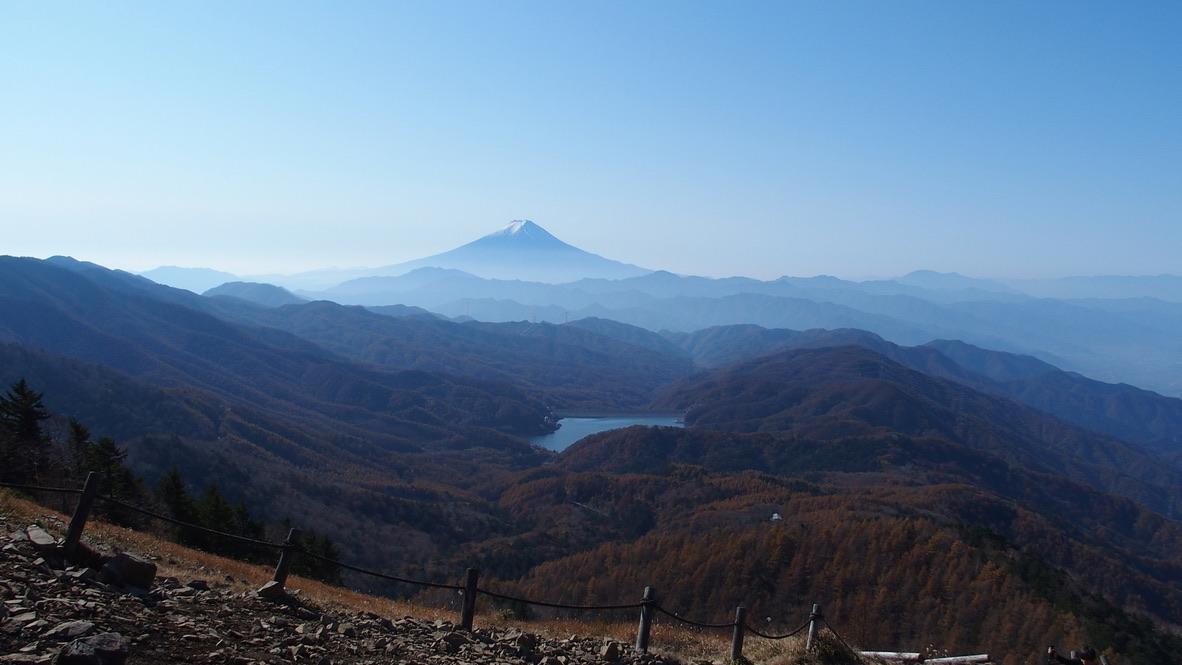 大菩薩嶺・富士山きれいに見えました!