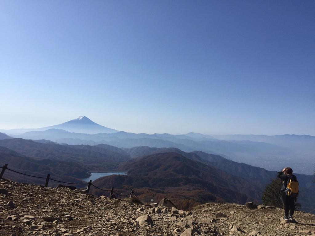 大菩薩嶺からの富士山・あいかわらずきれい