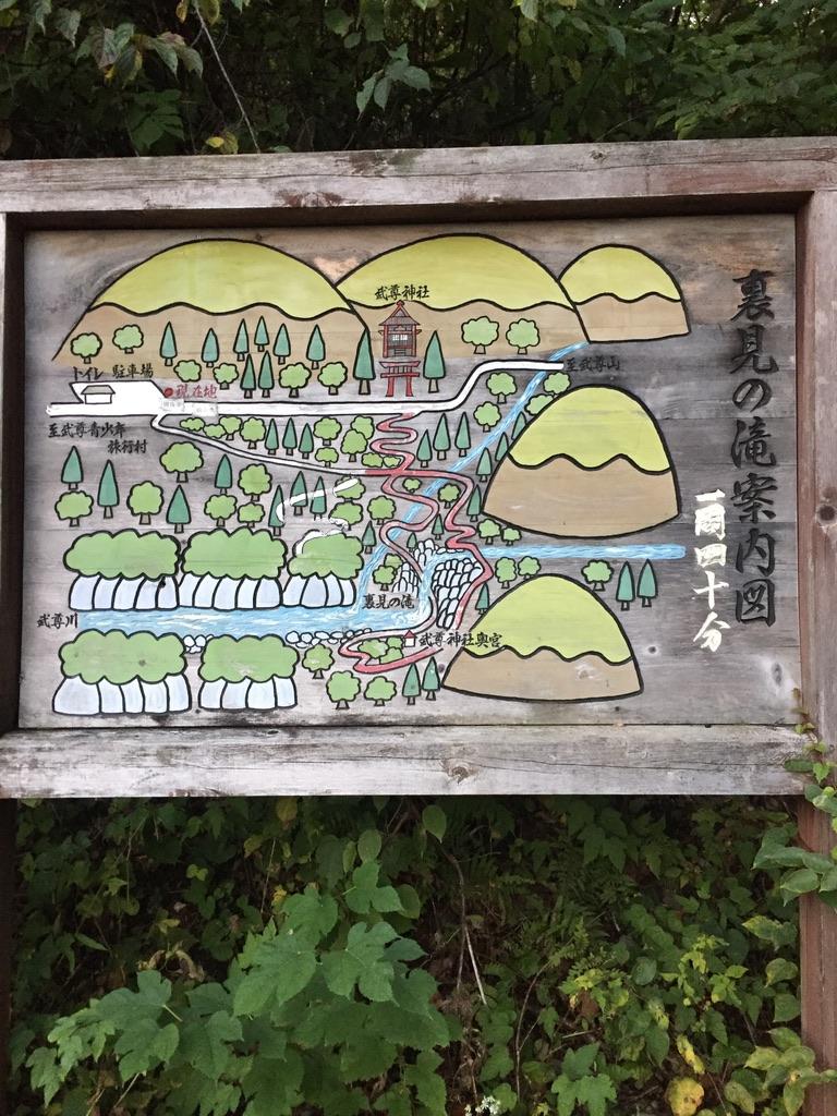 武尊山・裏見の滝案内図