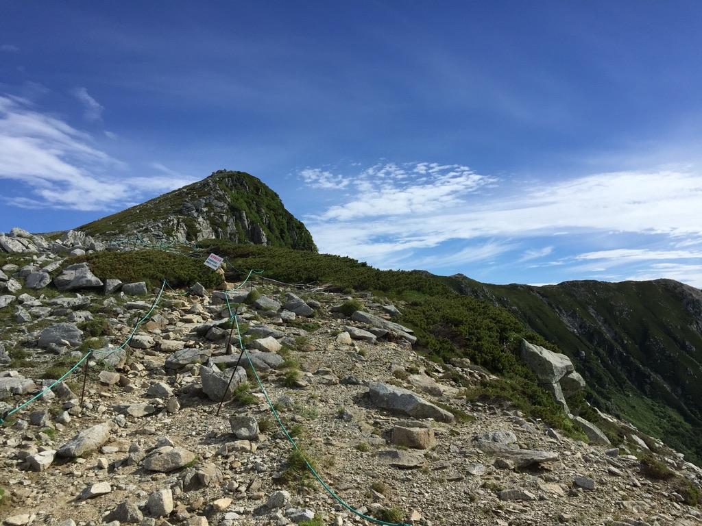 木曽駒ケ岳・極楽平からの宝剣岳