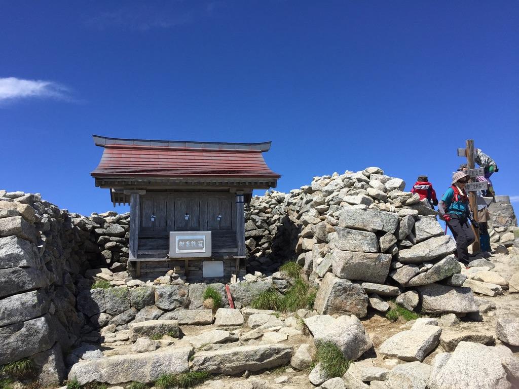 木曽駒ケ岳・木曽駒ケ岳山頂・伊那駒ヶ岳神社