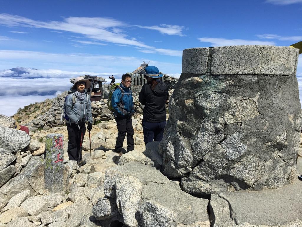 木曽駒ケ岳・木曽駒ケ岳山頂・山頂方位盤