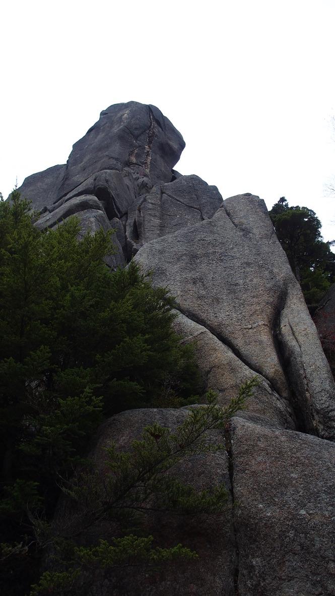 瑞牆山・大きな岩に遭遇です