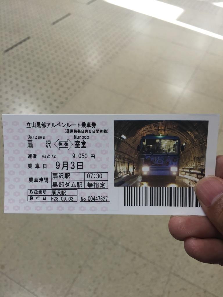 立山・立山黒部アルペンルート乗車券