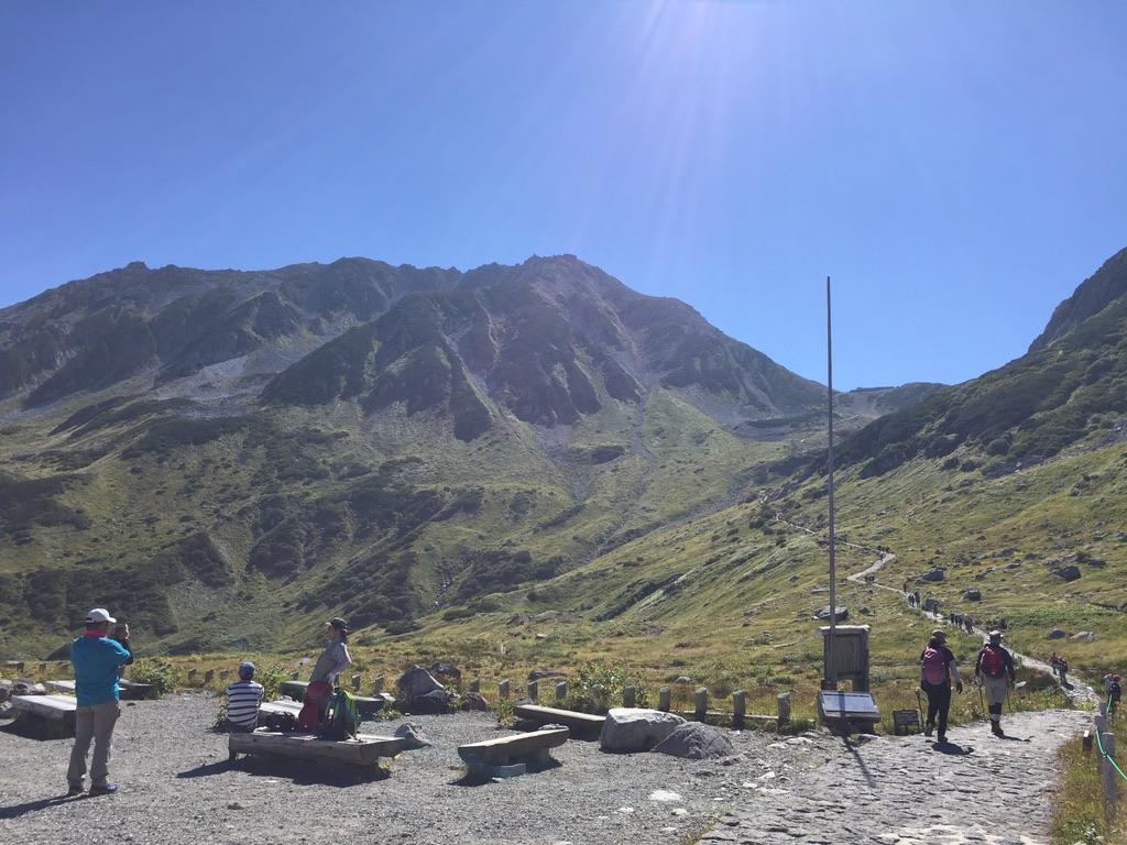 立山・ここから登りが始まります