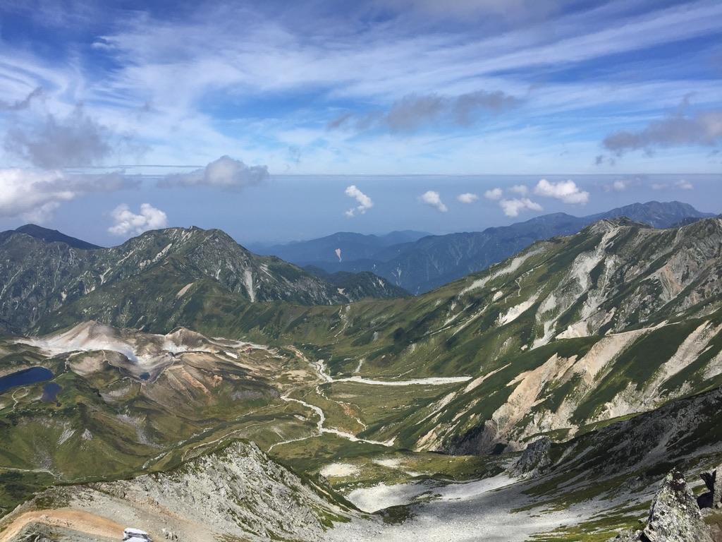 立山・山崎カール・雄山から大汝山へ向かいます