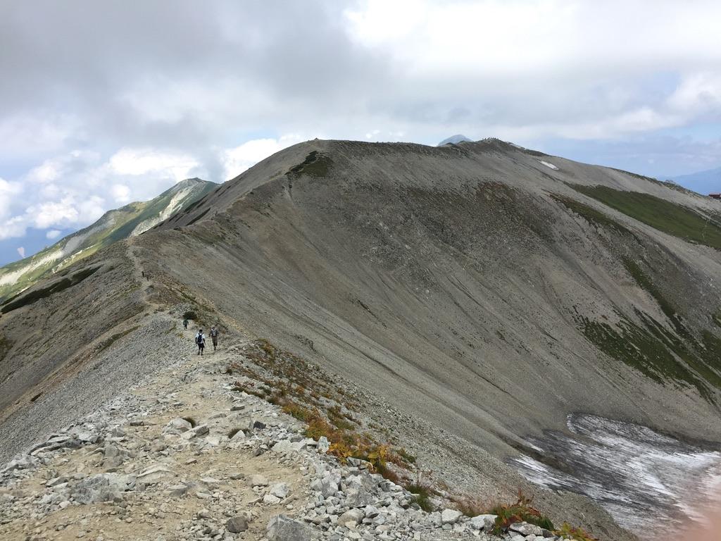 立山・富士ノ折立から真砂岳に向かう稜線