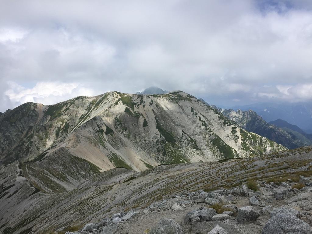 立山・真砂山から別山へ至る道