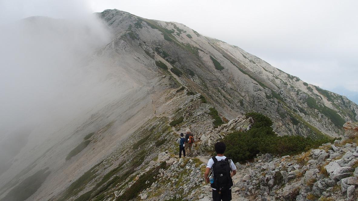 立山・別山への稜線
