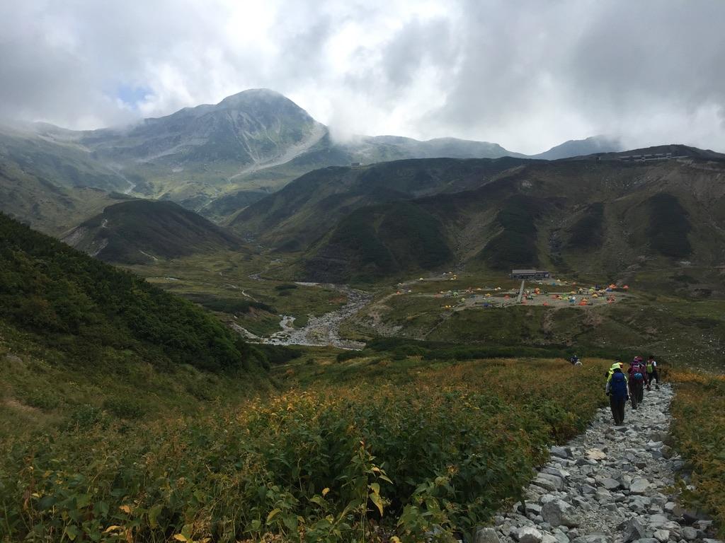 立山・剱御前小舎から雷鳥沢