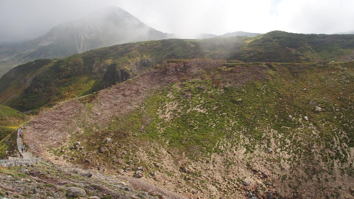 立山・雷鳥沢から室堂までの道