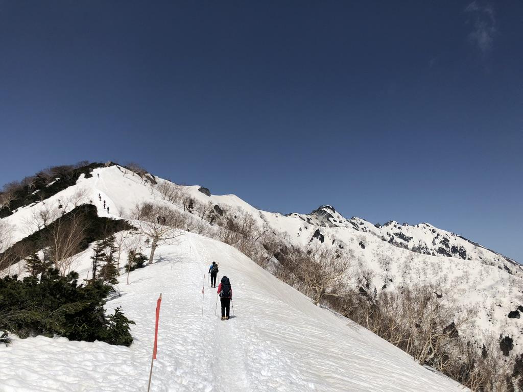 燕岳・合戦尾根・北アルプス三大急登・燕岳が見えました